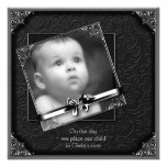 Black Baby Boy Photo Christening Personalized Announcement