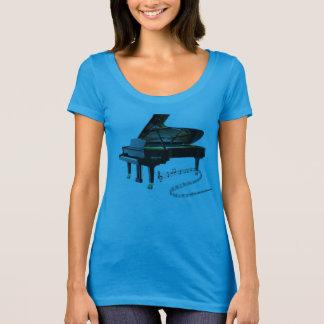 Black Baby Grand Piano & Music Notes T-Shirt