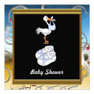Black  Baby Shower Party Custom Invitation