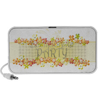 black bachelorette wedding bridal shower party fun mp3 speakers
