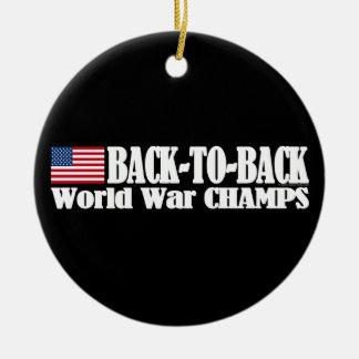 Black Back-To-Back USA Champs Christmas Tree Ornament
