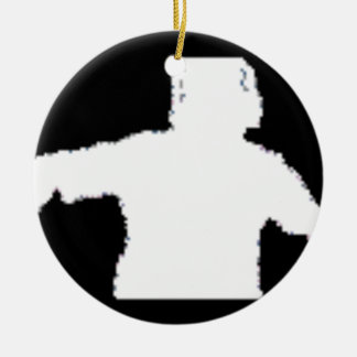 black background DJNV merchandise collection Ceramic Ornament