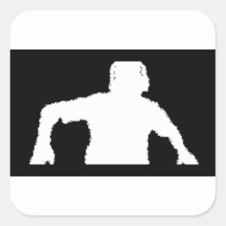 black background DJNV merchandise collection Square Sticker