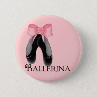 Black Ballerina Slippers 2 Button