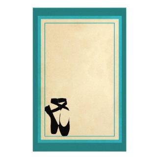 Black Ballet Shoes En Pointe Stationery