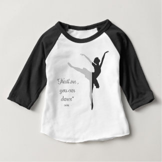 Black ballet silhouette Trust me you can dance Baby T-Shirt