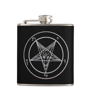 Black Baphomet Flask