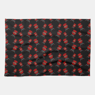 Black barbeque pattern kitchen towel