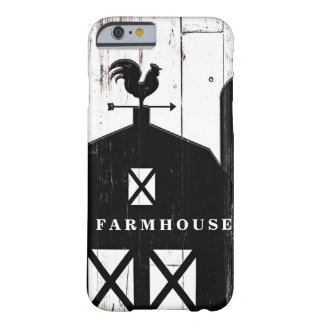 Black Barn Weathered White Wood Rustic Farmhouse Barely There iPhone 6 Case