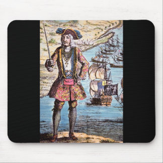 Black Bart Color Portrait Mouse Pad