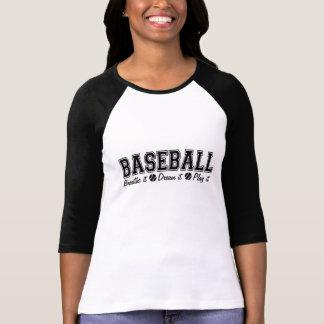 Black Baseball Breathe It Dream It Play It T-shirt