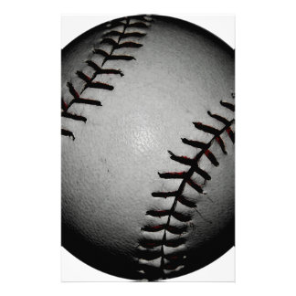 Black Baseball Grey/Gray Tone Stationery