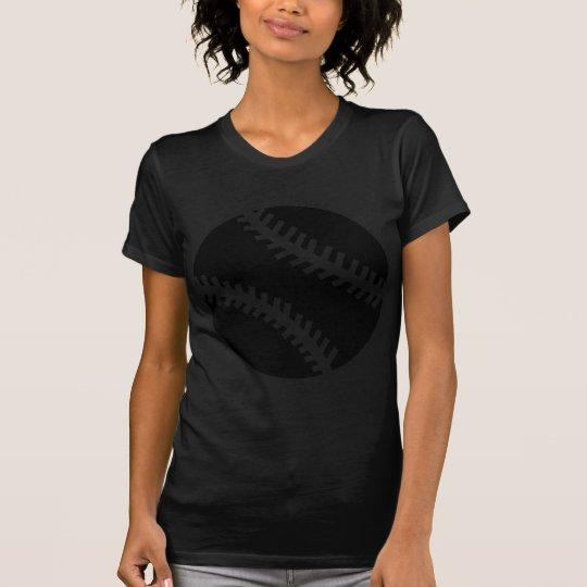 black baseball icon T-Shirt
