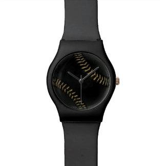 black baseball wrist watches