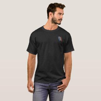 Black basic tee-shirt, Bleu Blanc Rouge Claws T-Shirt