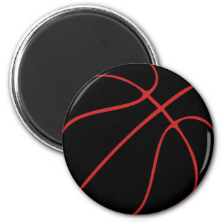 Black Basketball Magnet