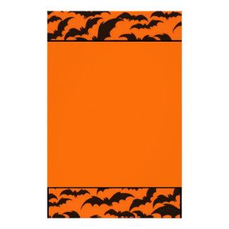 Black Bat Halloween Stationery