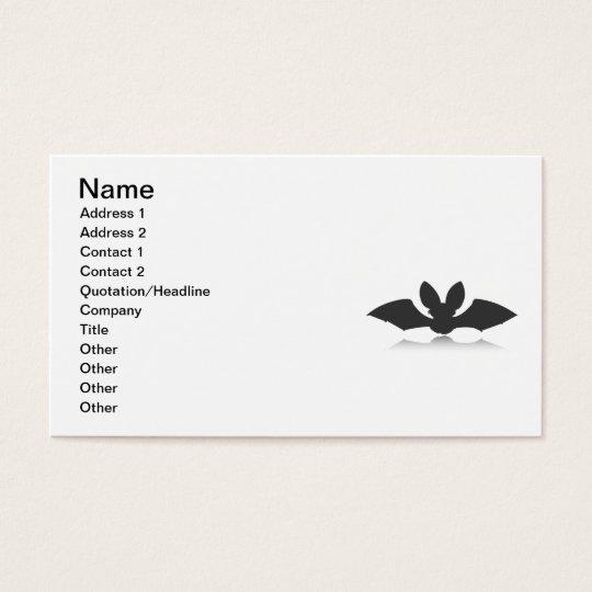 Black Bat Silhouette Business Card