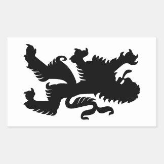 Black Bavarian Lion Sticker