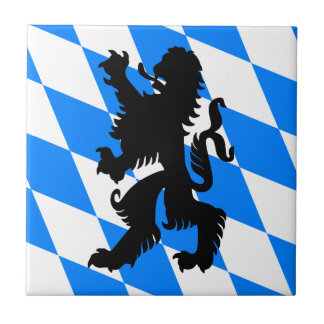 Black Bavarian Lion Tile