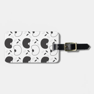 Black beans luggage tag