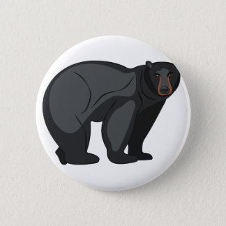Black Bear 2 Inch Round Button