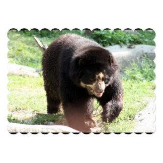 "Black Bear 5"" X 7"" Invitation Card"