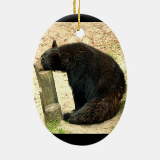 Black Bear (Alabama, Louisiana, New Mexico) Ceramic Oval Ornament