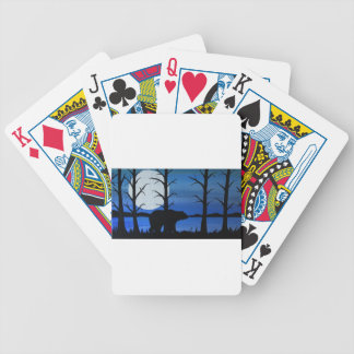 Black bear bicycle playing cards