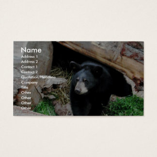 Black Bear Business Card