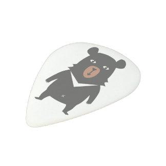Black bear cartoon acetal guitar pick
