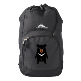 Black bear cartoon backpack