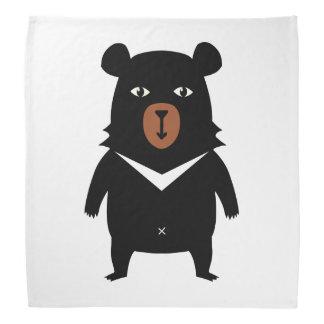 Black bear cartoon bandana