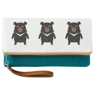 Black bear cartoon clutch