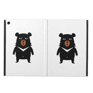 Black bear cartoon cover for iPad air