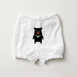 Black bear cartoon diaper cover