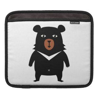 Black bear cartoon iPad sleeve