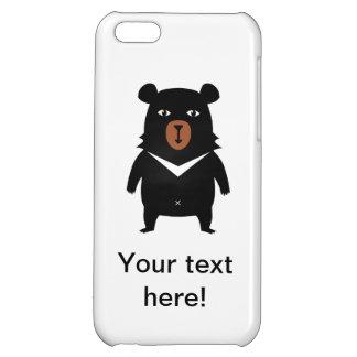 Black bear cartoon iPhone 5C cases