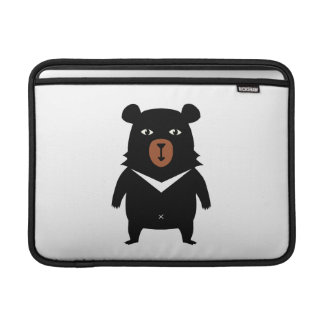 Black bear cartoon MacBook sleeve