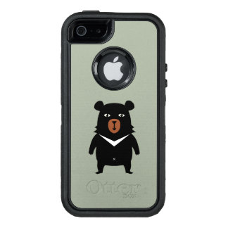 Black bear cartoon OtterBox defender iPhone case