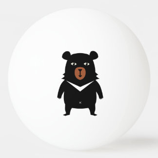 Black bear cartoon ping pong ball