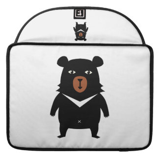Black bear cartoon sleeve for MacBook pro
