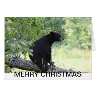 black bear christmas card