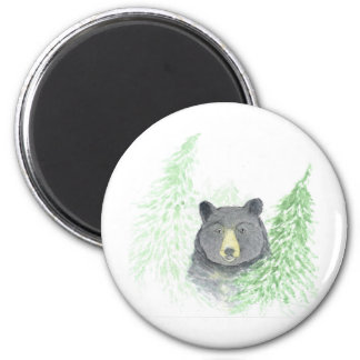 Black Bear Christmas Magnet