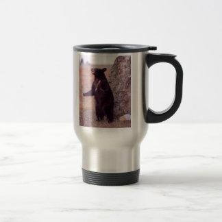 black bear cub travel mug