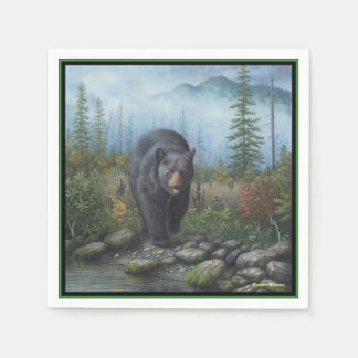 Black Bear Disposable Napkin