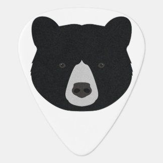Black Bear Face Guitar Pick