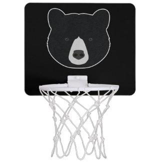 Black Bear Face Mini Basketball Hoop
