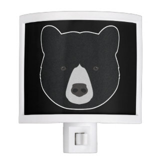 Black Bear Face Nite Lights