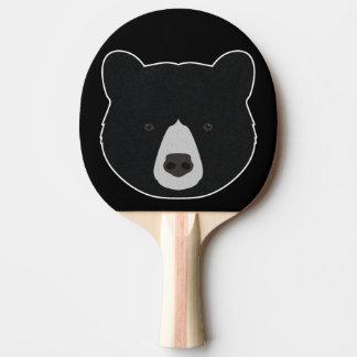 Black Bear Face Ping Pong Paddle